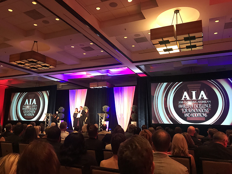 Congratulating our clients for winning 2018 AIA FLA Design Awards