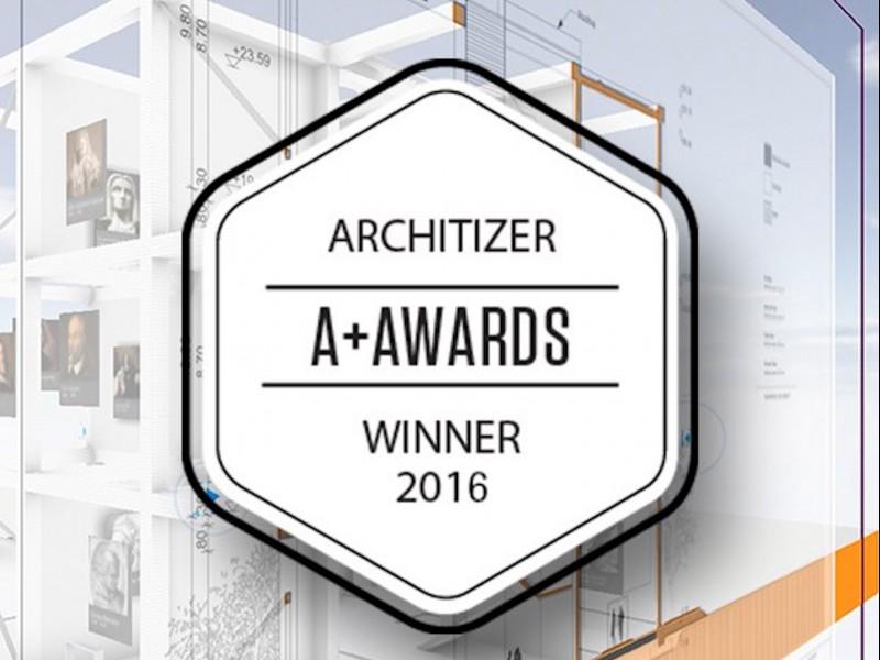 BIMx PRO wins THE PRESTIGIOUS ARCHITIZER A+ AWARD