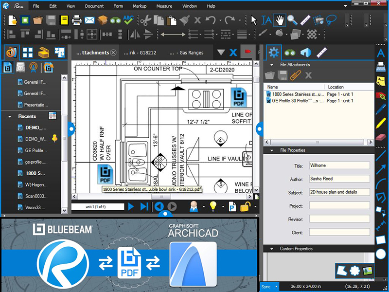 GRAPHISOFT Announces ARCHICAD – Bluebeam Revu Connectivity